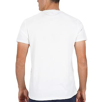 Wrangler Mens Unity Casual Regular Fit Crew Neck T-Shirt Top Tee - Off White