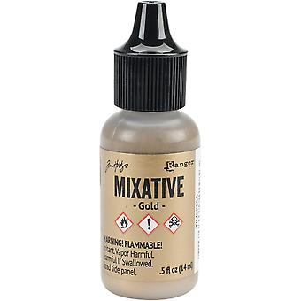 Tim Holtz Alcohol Ink Metallic Mixatives - Gold Metallic Mixative