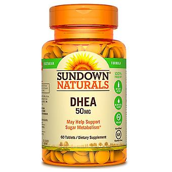 Sundown naturals dhea, 50 mg, tablets, 60 ea