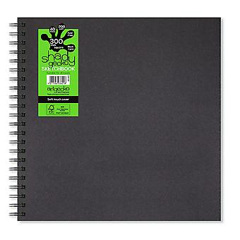 Artgecko شادي جيكو سكوير 30 × 30cm دفتر الكراسات بطاقة سوداء