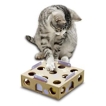 Karlie フラミンゴ スマート ・ インテリジェンス猫グッズ - アクティビティ ボックス 6 x 22 x 22 cm。