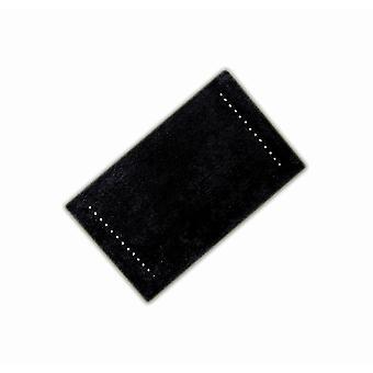 Diamante svart bomull enda Bath matta 50 x 80cm