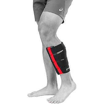 Mueller Multi-Directional Calf Wrap - L/XL - Black/Red