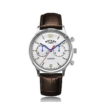 Rotary GS05203-70 Brown Strap Avenger Chronograph Wristwatch