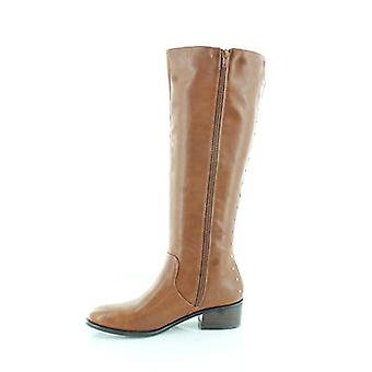 Bar III Womens Vayla Leather Almond Toe Knee High Cowboy Boots