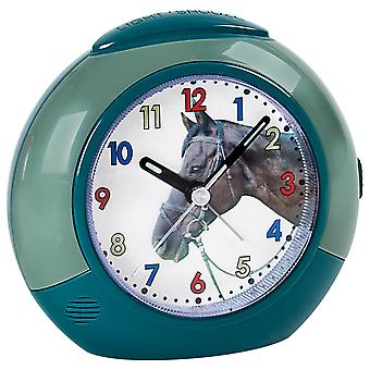 Atlanta 1984/6 clock horse for children kids alarm clock green quiet horse alarm clock