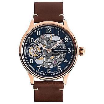 Carl von Zeyten Men's Watch Wristwatch Automatic Lahr Rosé CVZ0021RBL