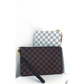 IKRUSH Womens Robyn Check Clutch Bag