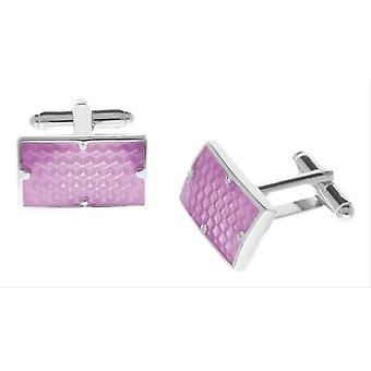 Duncan Walton Combe Enamel Cufflinks - Pink