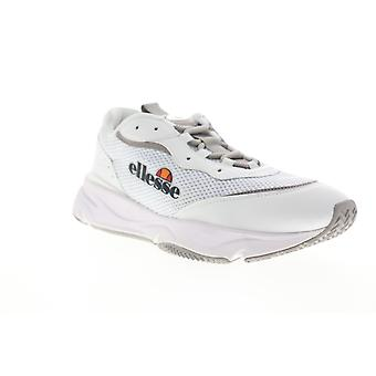 Ellesse Massello Text  Mens White Mesh Low Top Lifestyle Sneakers Shoes