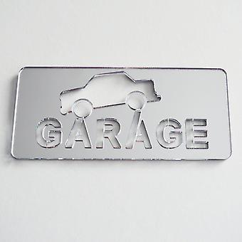 Placa da porta espelhada de acrílico do carro da garagem