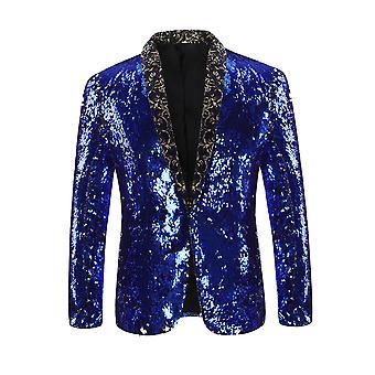 Cloudstyle Men's Blazer Nightclub style Sequins Party Suit Jacket