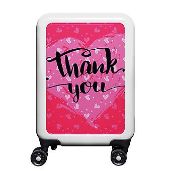 myTrolley Thank You S, 4 rollen, 55 cm, 32 L, Wit