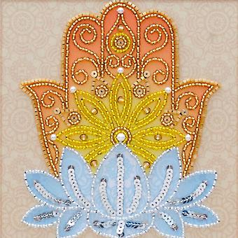 VDV Free-Form Protective Amulet Bead and Sequins Embroidery Kit - Hamsa