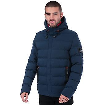 Men's Crosshatch Black Label Kampleys Quilted Jacket in Blue