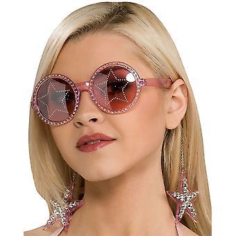 Glasögon stjärnor är Blind rosa