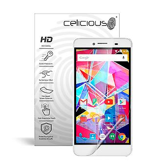 Celicious Vivid Invisible Glossy HD Screen Protector Film Compatible with Archos Diamond Plus [Pack of 2]