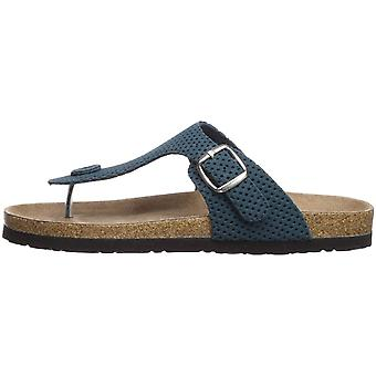 Northside Womens Bindi Suede Split Toe Casual Slide Sandals