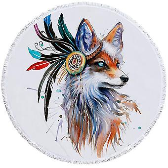 Art maalaus Native American Fox ranta pyyhe