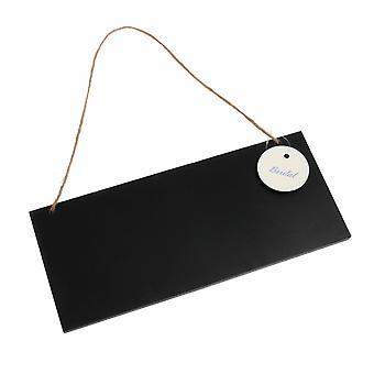 ジュートストリング付きグローブス小木製黒板 - 27 x 12cm