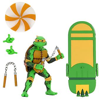 NECA TMNT Michelangelo Turtles In Time 7 Inch Scale Action Figure