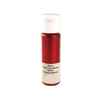 20ml Christmas Red Extra Fine Craft Glitter for Crafts