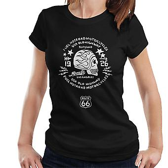 Route 66 USA Old Highway Motorcycles Women's T-Shirt