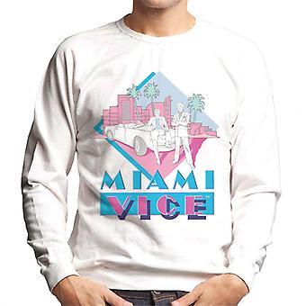 Miami Vice Retro 80's Drawn Logo Men's Sweatshirt