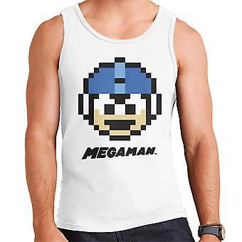 Mega Man Pixel Face Men's Vest