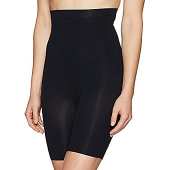 Arabella Women's Seamless High-Waist Thigh Control Shapewear, Noir, X-Large