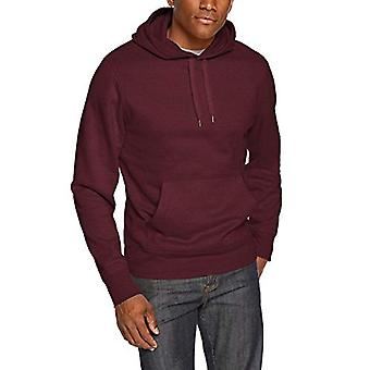 Essentials Men's Hooded Fleece Sweatshirt, Burgundy, X-Small