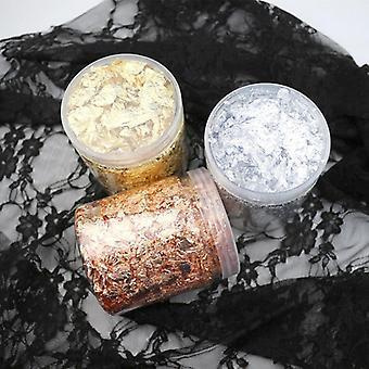 Imitation Gold/silver/copper Foil Art Craft Flake Silk Sheets - Bulk Foil Paper Leaves For Gilding Diy Nail Flake Art Decor