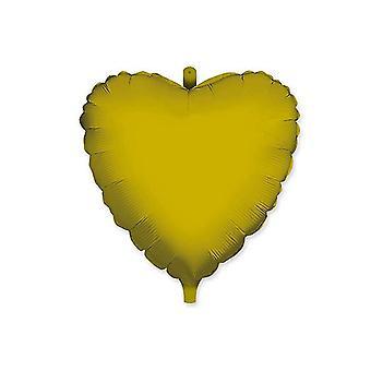 """Μπαλόνι φύλλου αλουμινίου σε σχήμα καρδιάς 18""""/45cm - Ελεφαντόδοντο"""