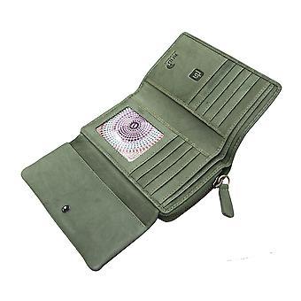 Primehide Large Womens Soft Leather Purse Wallet RFID Blocking Card Holder 6505