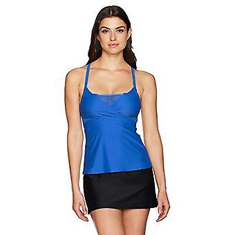 Brand - Coastal Blue Women's Swimwear Bikini Bottom, Black, L (12-14)