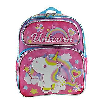 Small Backpack - Unicorn - Rainbow & Hearts Pink 12