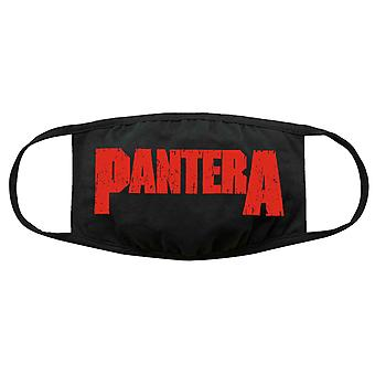 Pantera Face Mask Logo new Official Black Protective Covering Washable Reusable