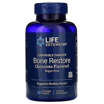 Prolongation de la durée de vie utile, Restauration d'os, sans sucre, chocolat aromatisé, 60 comprimé à mâcher