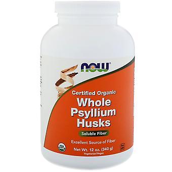 Now Foods, Zertifizierte Bio-Ganzes Psyllium Husks, 12 oz (340 g)