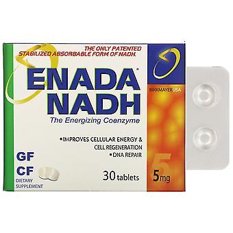 ENADA, NADH 5x, 5 mg, 30 Tablets