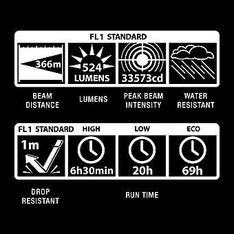 Maglite ML300LX Black - 524 Lumen 366m beam - 2D Cell - 3rd Gen LED torch