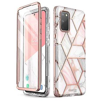 COSMO 360° Backcover Hoesje Met Screen Protector Samsung Galaxy S20 - Marble Wit