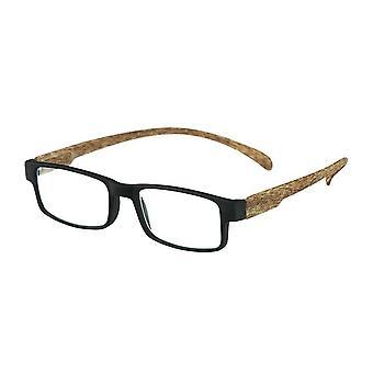 Lesebrille Unisex  Affe Holz schwarz/braun Festigkeit +2,50 (le-0179A)