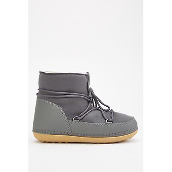 Lace Up Ankle Winter Boots