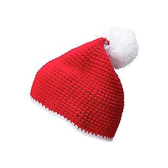 Myrtle Beach Adults Unisex Contrast Stripe Pompom Hat