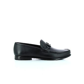 Salvatore Ferragamo 02a879688525 Heren's Black Leather Loafers