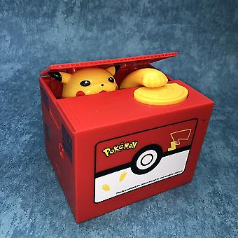 High Quality Electronic Money Box- Pokemon Pikachu Piggy Bank Steal Coin Automatically For Kids Friend Birthday / Christmas Gift (pokemon Cqg)