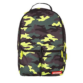Sprayground Neon Camo Cargo Backpack - Black / Neon