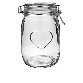 Herz-Design-Glas-Lagerung / Lebensmittel konserve Ny (1000ml)