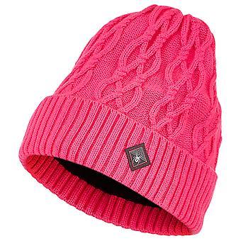 Spyder KAAPELI NEULO Naisten neule Talvi Hiihto hattu Vaaleanpunainen